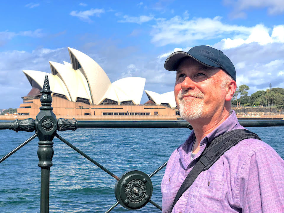 Mike at Sydney Opera House